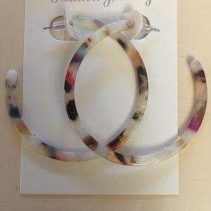 Jewelry - NEW Acrylic Hoop Earrings